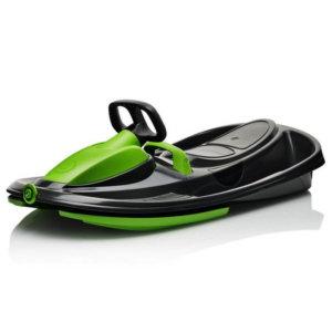 Пластиковые санки-снегокат c рулем и тормозом Gismo Riders Stratos зелёный_1