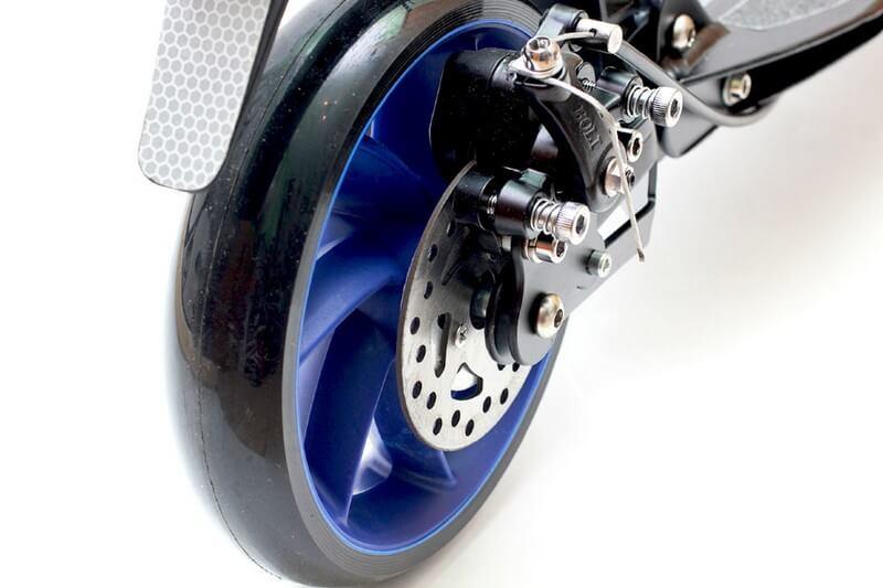 Самокат двухколёсный Navigator Супермэн (WB) 2-х кол. сталь EVA кол.110мм,щиток,тормоз размеры: