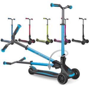 Складной трёхколёсный самокат с широкими колёсами для детей от 5 лет Globber Ultimum - Все цвета